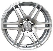 For Wheels ME 566f (Mercedes) 8x17 5x112 ET 45 Dia 66,6 (silver polished)